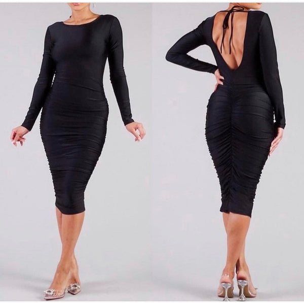 Black Be Mines Midi Dress
