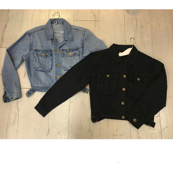 Demi Black Denim Jacket