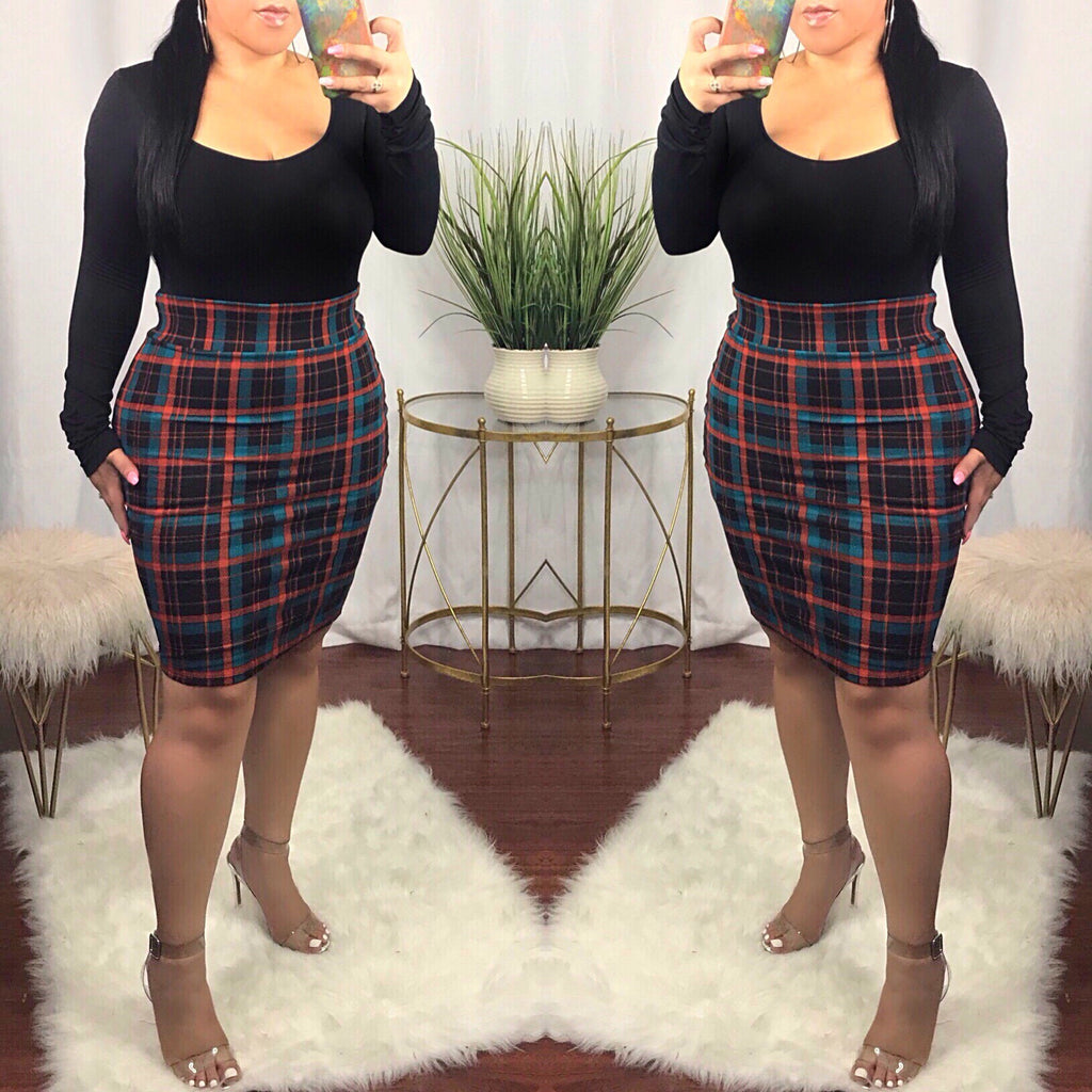 Dionne Plaid Skirt