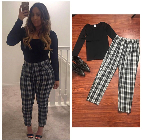 Black Plaid Pants