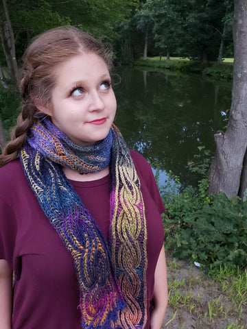 Double Vision Brioche Scarf Kit