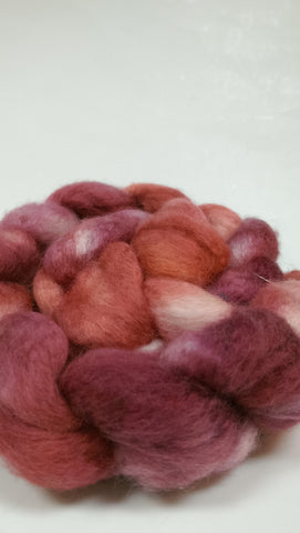 Island Yarn Hand-dyed Roving - BFL/Silk