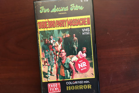 Dude Bro Party Massacre III [VHS]