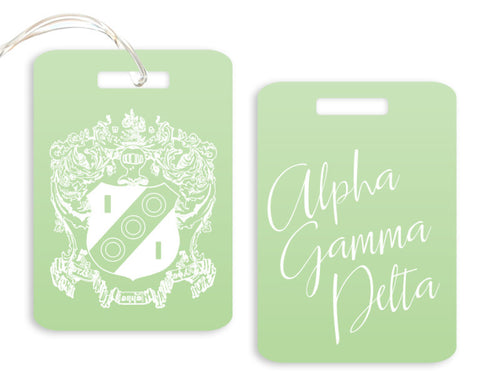 Alpha Gamma Delta Crest Luggage Tag - Suite Space Boutique