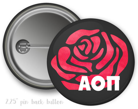 Alpha Omicron Pi Rose Button