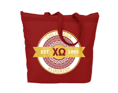 Chi Omega Aztec Tote - Suite Space Boutique