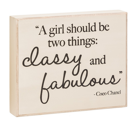 Classy & Fabulous Box Sign - Suite Space Boutique
