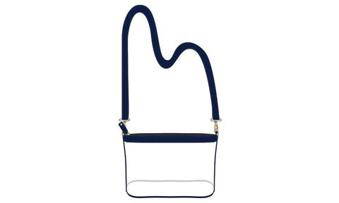 Clear Crossbody Bag - Navy - Small - Suite Space Boutique