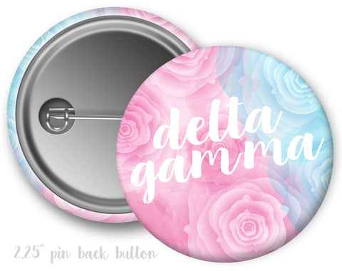 Delta Gamma Floral Button - Suite Space Boutique