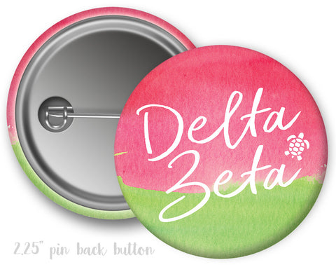 Delta Zeta Watercolor Button