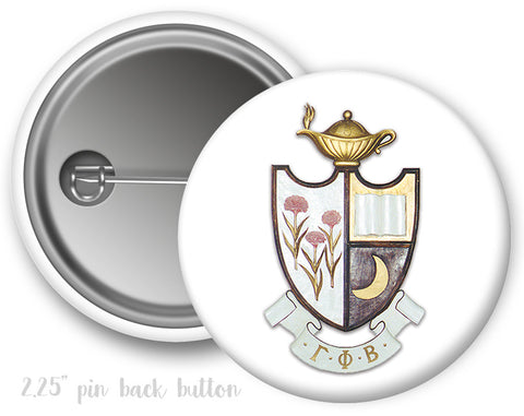Gamma Phi Beta Crest Button