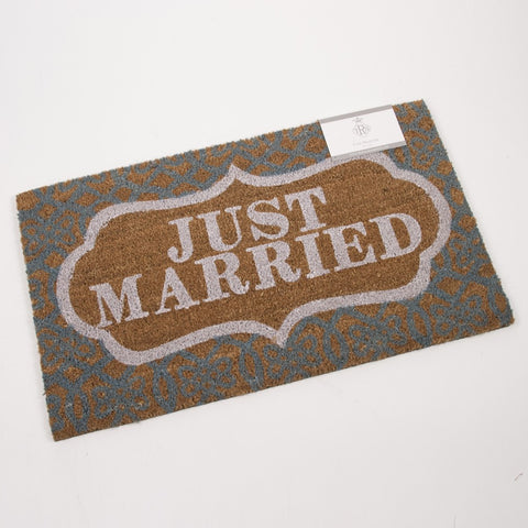 Just Married Door Mat