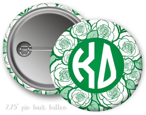 Kappa Delta Floral Button