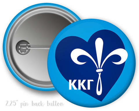 Kappa Kappa Gamma Heart Button