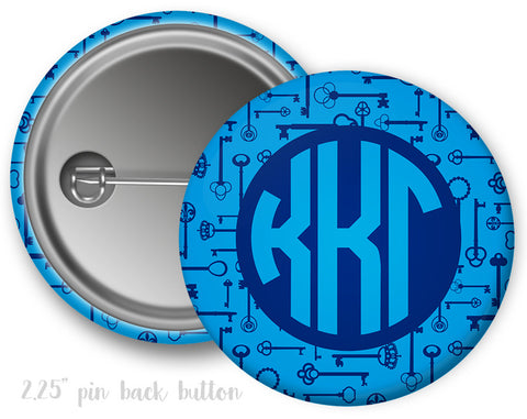 Kappa Kappa Gamma Monogram Button