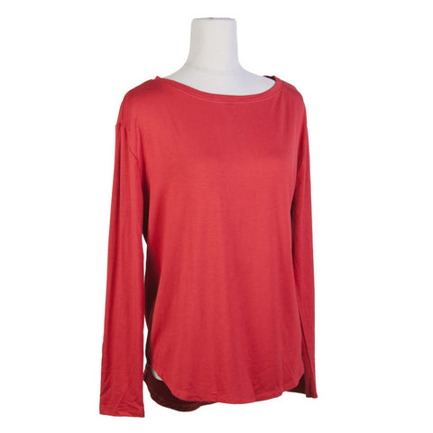 Perkins Boat Neck Long Sleeve - Red