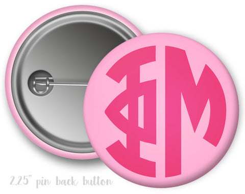Phi Mu Monogram Button