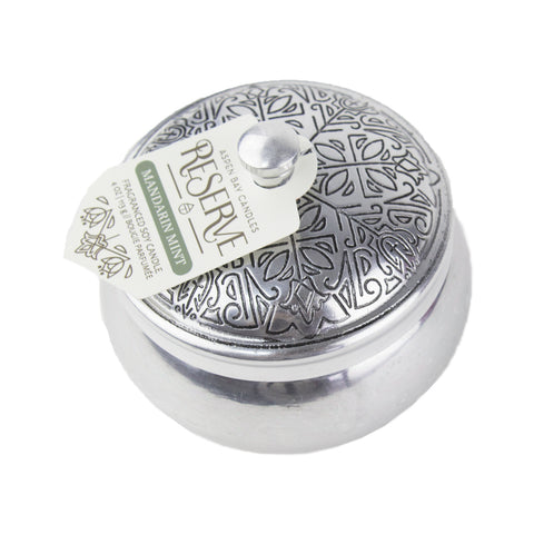 Candle - Reserve Silver Tin - Mandarin Mint - Suite Space Boutique