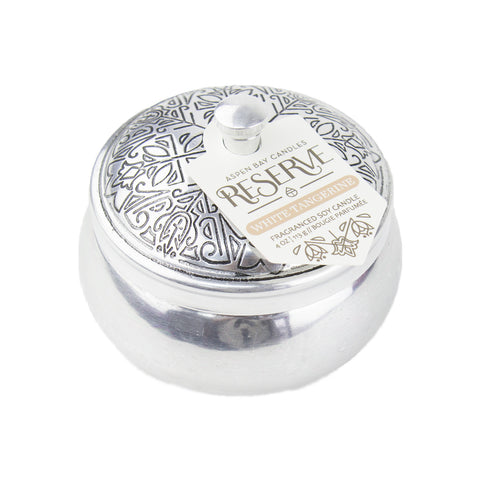 Candle - Reserve Silver Tin - White Tangerine - Suite Space Boutique