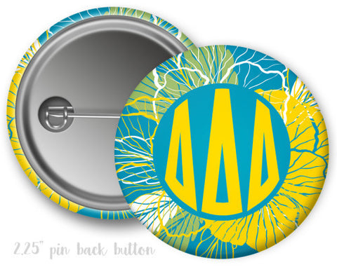 Delta Delta Delta Floral Button - Suite Space Boutique