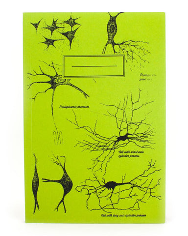Neurons Softcover Notebook (Green)