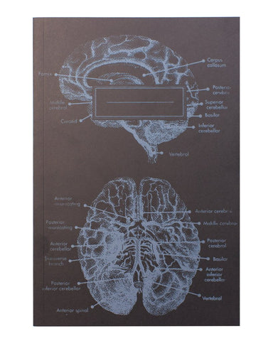 Anatomical Brain Softcover Notebook