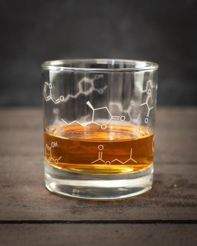 Chemistry of Whiskey Lowball Glass