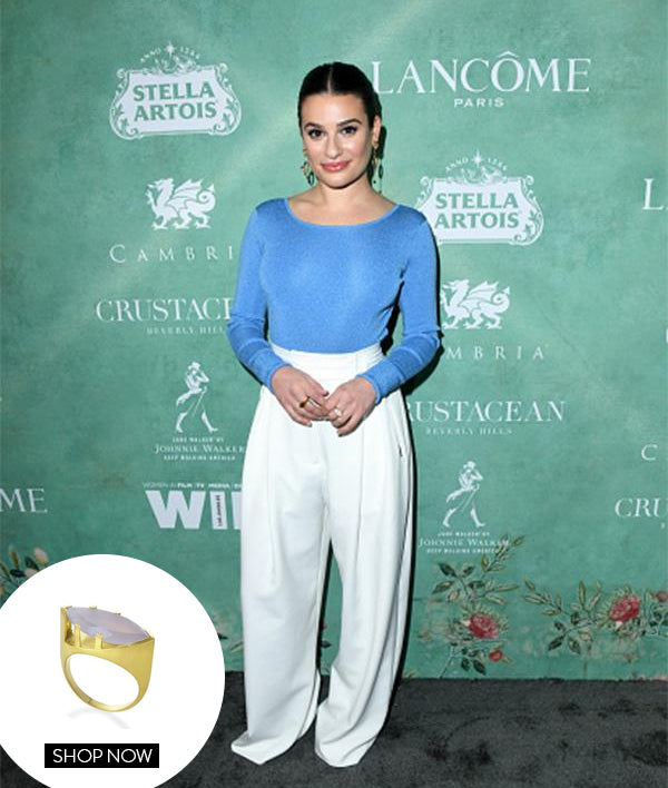 LEA MICHELE IN TAJ GEMSTONE RING