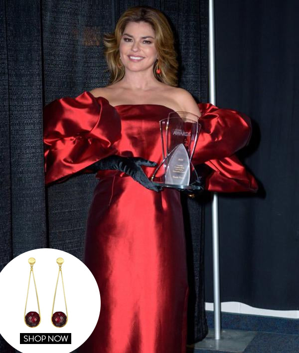SHANIA TWAIN IN OUR IPANEMA EARRINGS