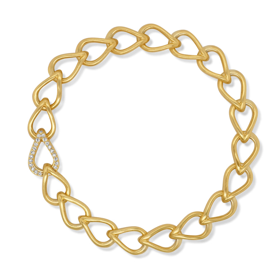 SIGNATURE PAVE TEARDROP STATEMENT BRACELET