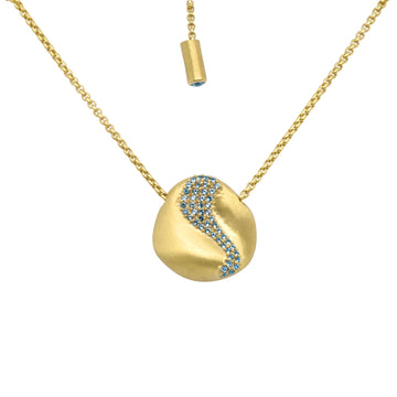 PRAIA PAVE PENDANT NECKLACE