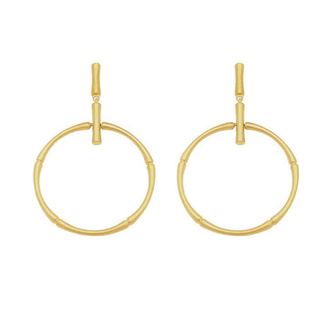 BAMBOO FRONTAL HOOP DROP EARRING