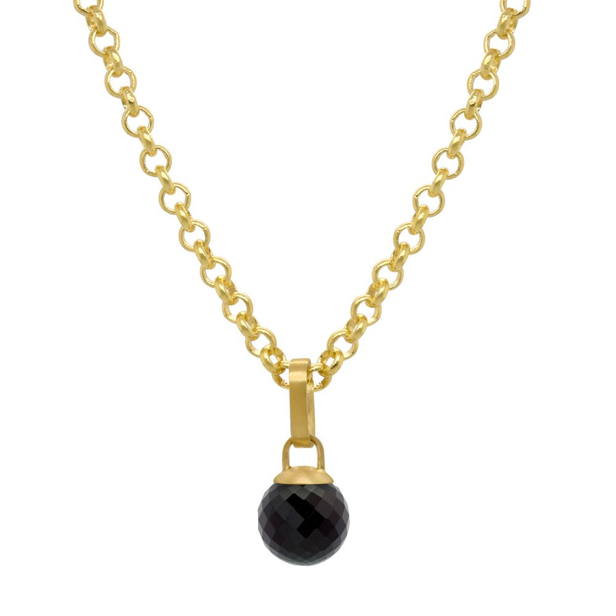 DEAN DAVIDSON JEWELRY MANHATTAN GEMSTONE LARIAT NECKLACE BLACK ONYX GOLD