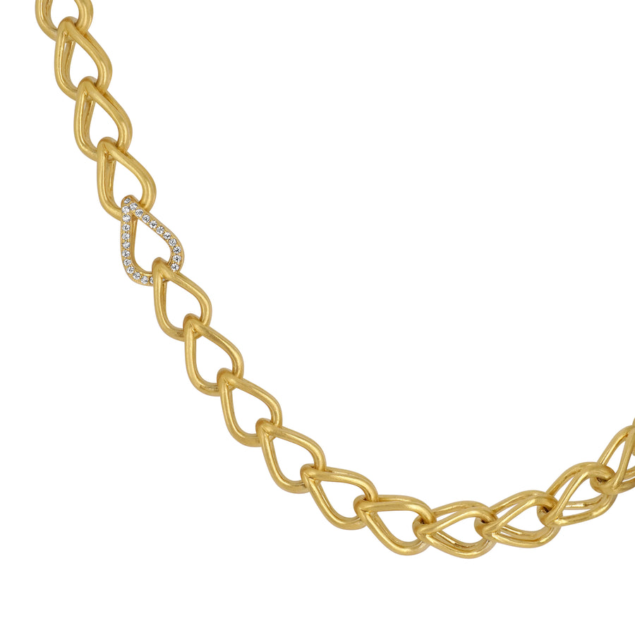 SIGNATURE PAVE TEARDROP STATEMENT NECKLACE
