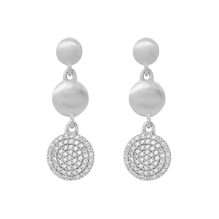 SIGNATURE PAVE TRIPLE DROP EARRINGS
