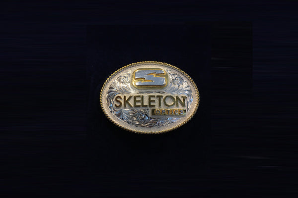 Skeleton Optics Shield Belt Buckle (Oval)
