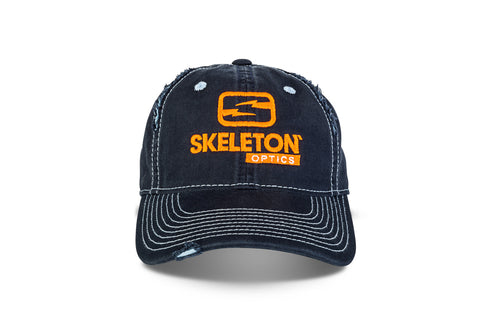 Skeleton Optics Torn Trucker Hat