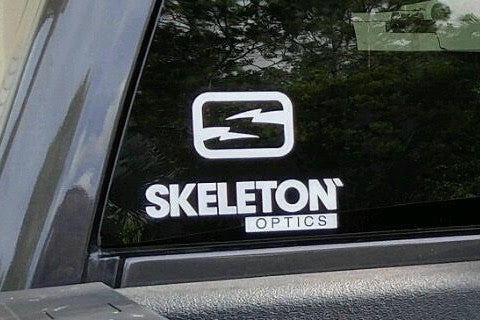 Skeleton Optics Window Decal