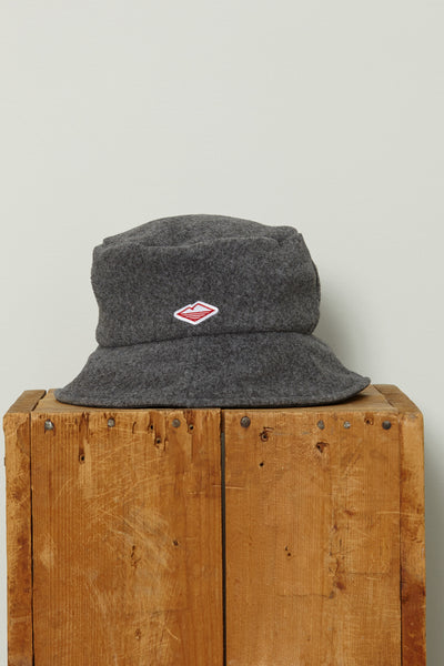 Fleece Bucket Hat, Heather Grey