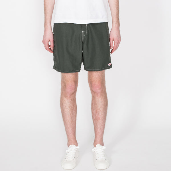 Board Shorts, Dark Olive/Beige