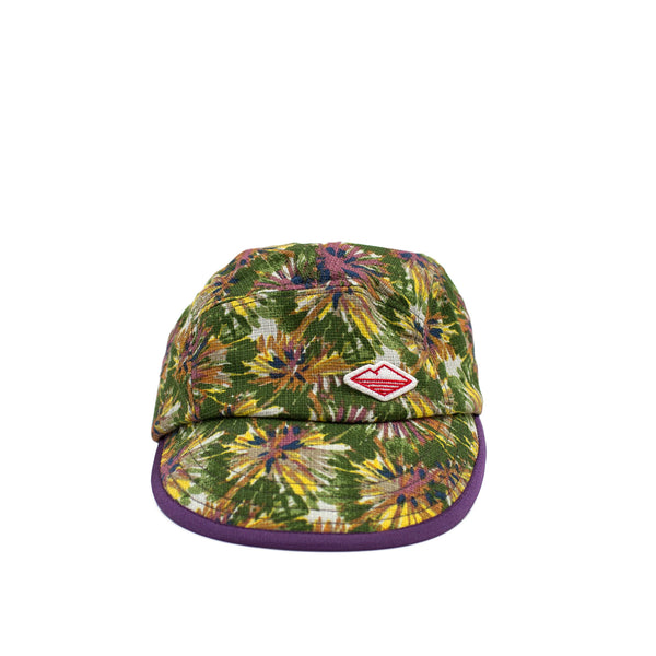 Camp Cap, Olive/Pink Flower