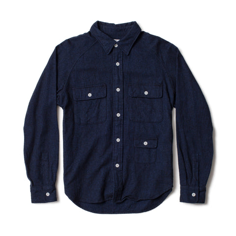 Camp Shirt, Heather Navy