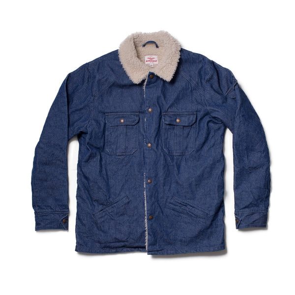 Shearling Cutter Jacket, Indigo Broken Denim