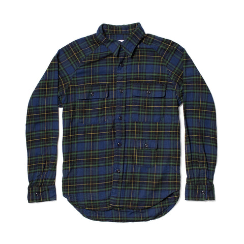 Camp Shirt, Navy/Black Plaid