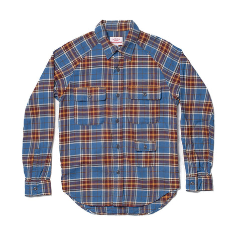 Camp Shirt, Blue/Brown Plaid