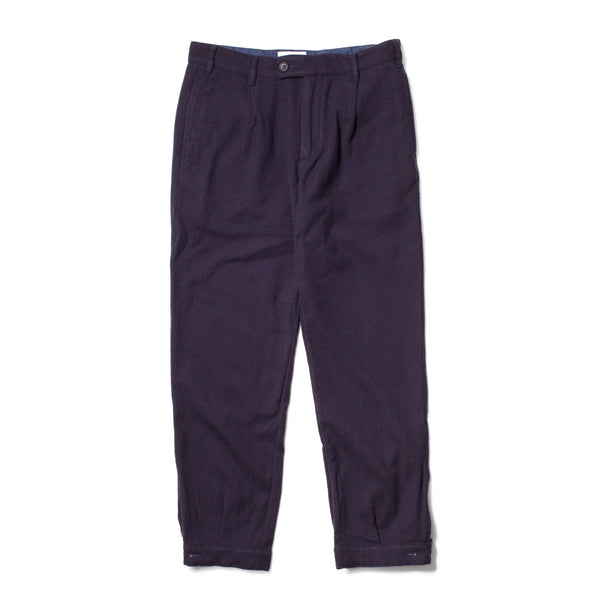 Pleated Woodsman Pants, Navy
