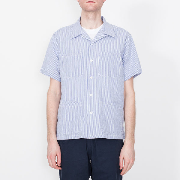 Five Pocket Island Shirt, Blue Stripe