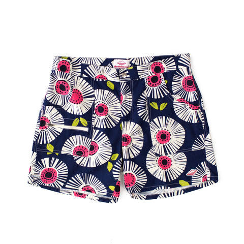 Local Shorts, Navy Flower