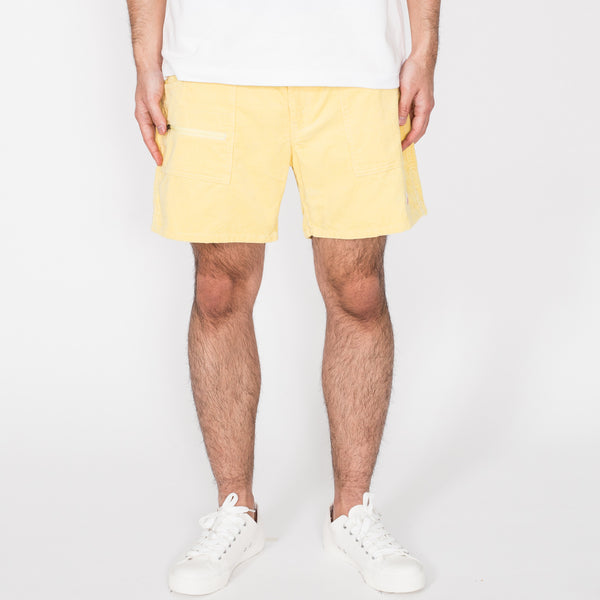 Local Shorts, Light Yellow Corduroy