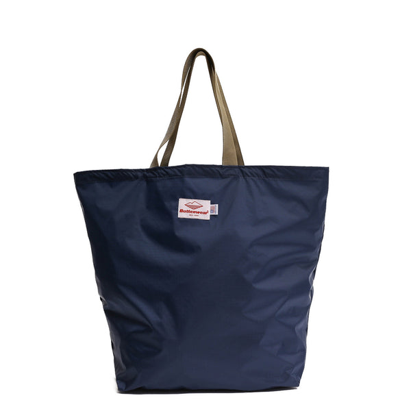 Packable Tote, Navy/Coyote Brown